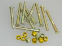 "10 x 1/4"" Pin Rivets Countersunk With Rivnuts Length 2 3/8"" [N1]"